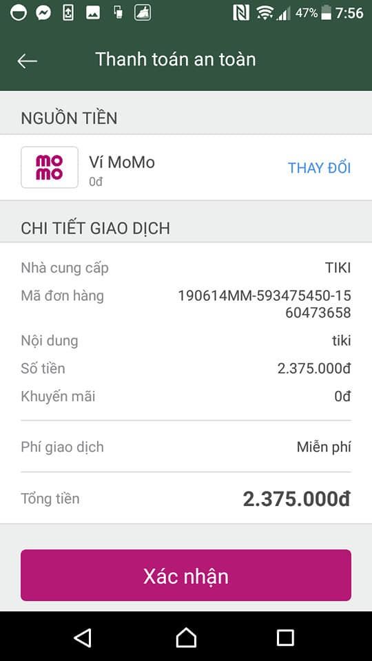 mua hàng trên tiki bằng ví momo 7