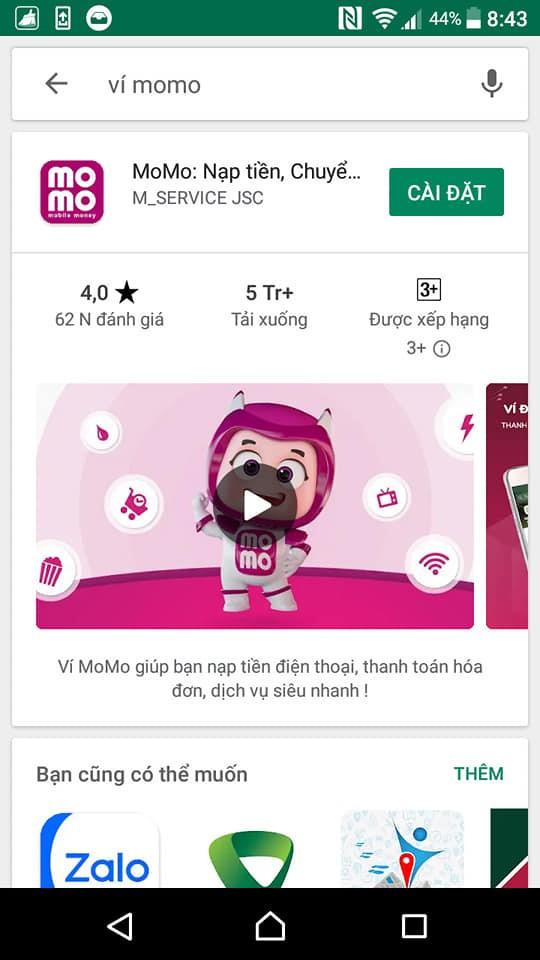 mua hàng trên tiki bằng ví momo 8