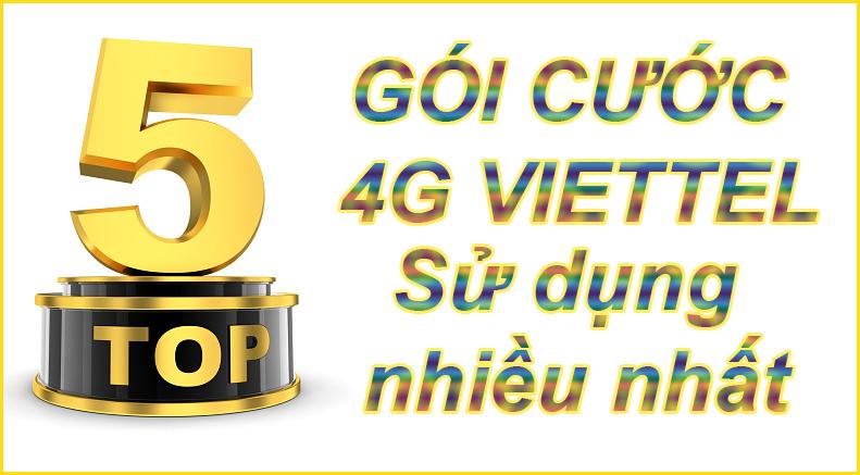 #TOP 5 gói cước 4G Viettel được sử dụng nhiều nhất 2019