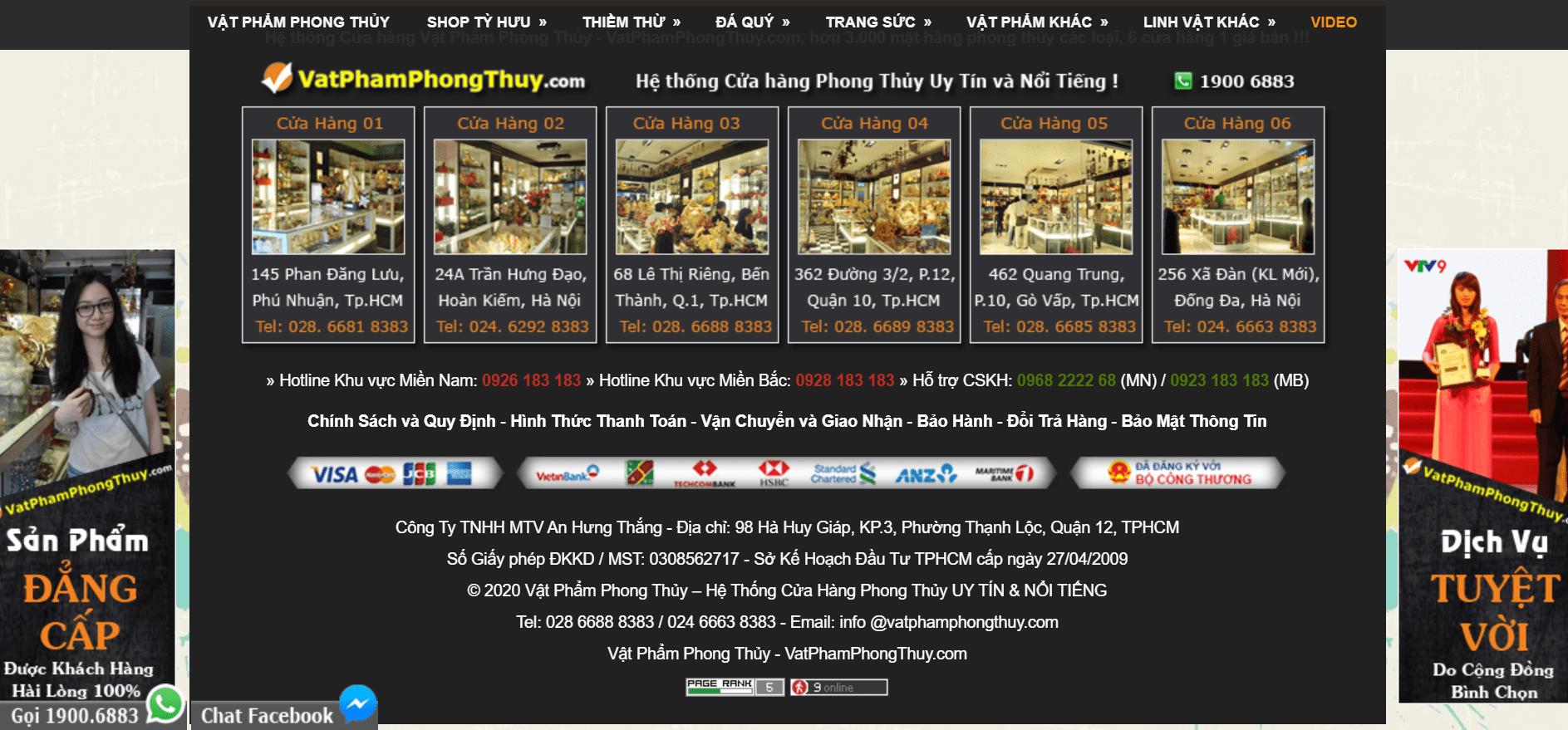 Top 10 cửa hàng bán đồ phong thủy uy tín – chất lượng nhất ở TP Hồ Chí Minh